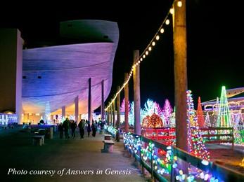 ark encounter christmas lights