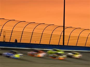 racetrack cars blurred