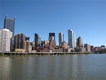 Pittsburgh skyline from river