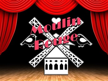 Moulin Rouge windmill graphic