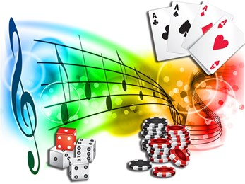 casino chips music notes