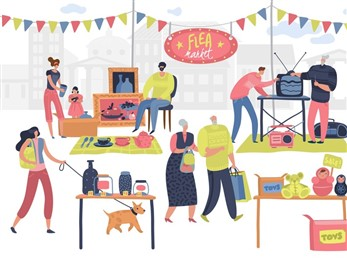 Flea Market Illustration